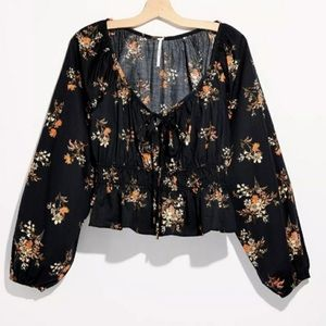 Free People Mandy Printed Blouse